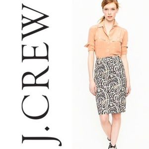 J.Crew No 2 Pencil Skirt in feather Paisley